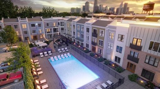 Final Tryon Hills - Pool Courtyard